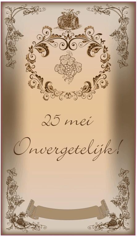 Populair bedankt wijn | 123sticker.nl SJ-97