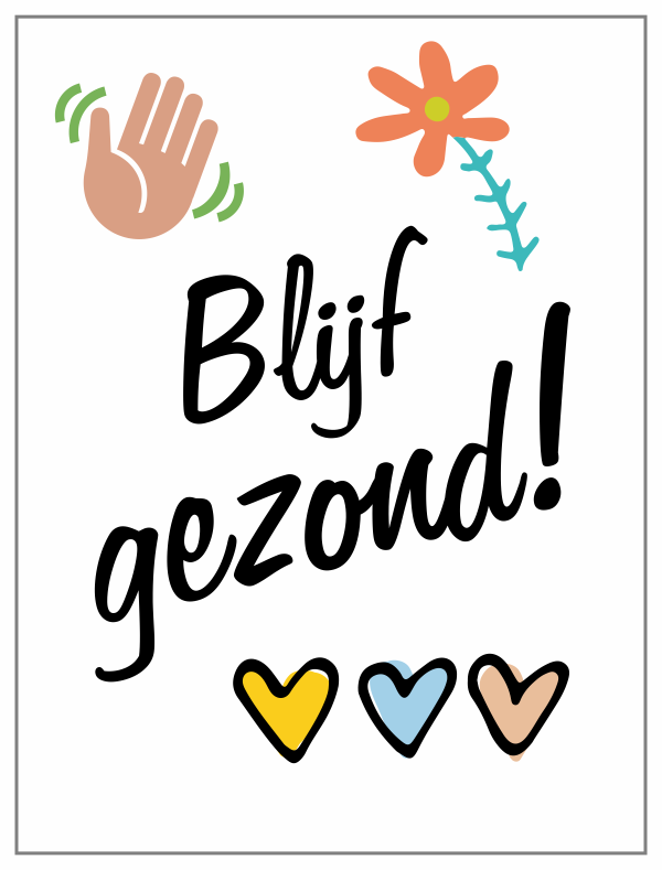 Blijf gezond! | 123sticker.nl