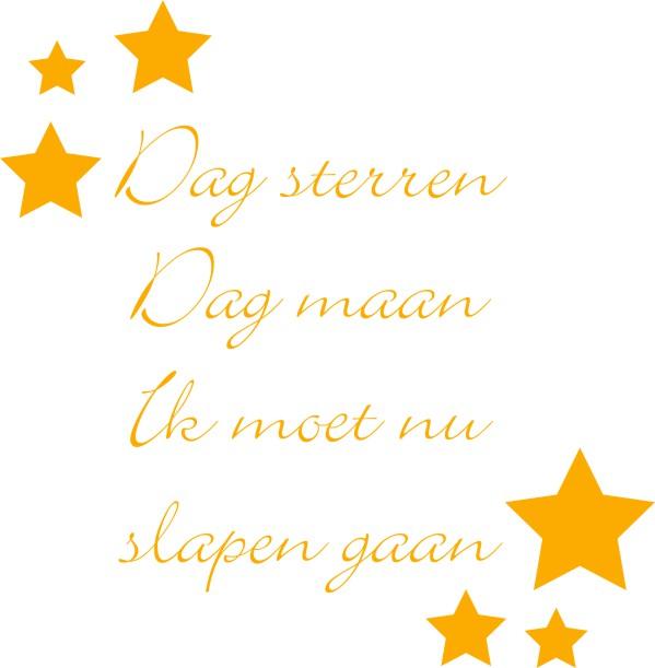 Spiksplinternieuw Dag sterren gedicht   123sticker.nl MH-22