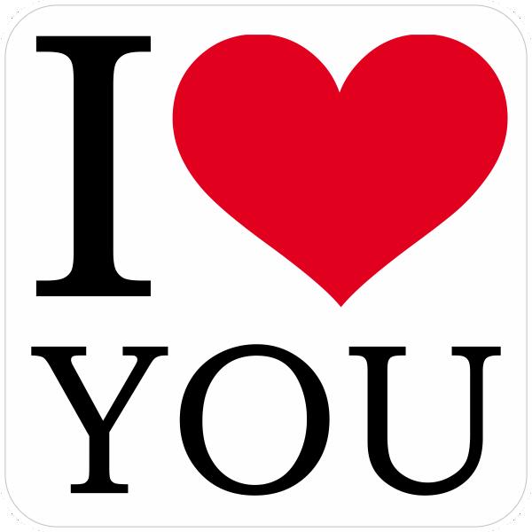 I Love You 123stickernl